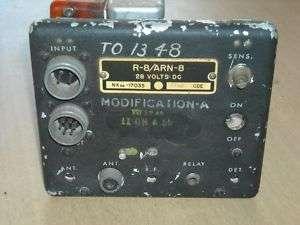 Vintage US Military R 8/ARN 8 Aircraft Radio Chassis