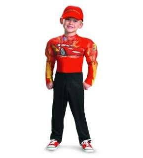 Disney Pixar Cars 2 Movie Lightning Mcqueen Classic Muscle Costume