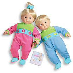 New American Girl Bitty Baby Twins Color Block SLEEPERS ONLY Meet