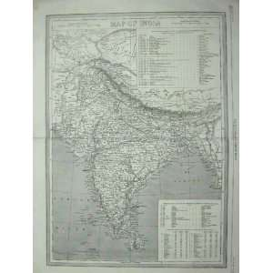 com 1857 ANTIQUE MAP INDIA CEYLON BAY BENGAL CALCUTTA Home & Kitchen