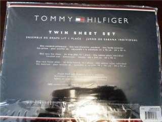Tommy Hilfiger Twin Sheet Set   FISH BAY BLUE PATTERN