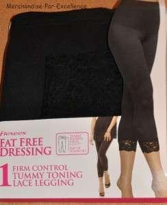 Maidenform FLEXEES Tummy CONTROL Footless LEGGING Shaper 2455 Black