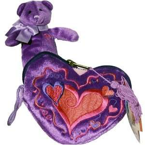 Princess Purse with Purple Teddy Bear   Mary Meyer