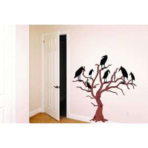 Removable Wall Decals  Buzzards in Tree
