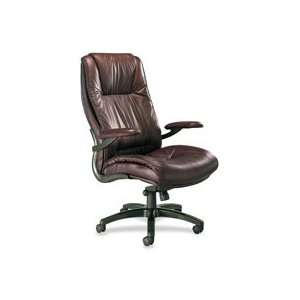 High Back Chair features sculpted dual density foam, genuine top