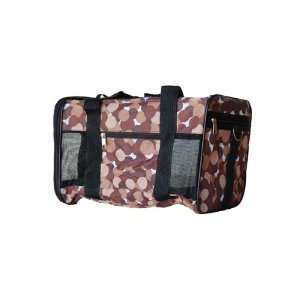 Cat Brown Dot Pet Duffle Travel Carrier Airline Approved
