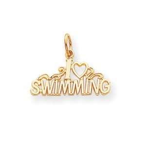 Genuine IceCarats Designer Jewelry Gift 10K Swimming Charm Jewelry
