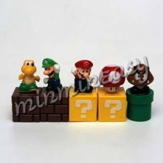 Nintendo Super Mario Figure Toad Luigi Koopa x 5pcs **
