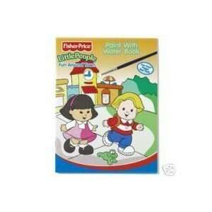 Little People Paint with Water Book   Fun Around Town Toys & Games
