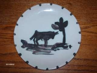 Pablo Picasso Edition Toros Ceramic Plate (1952) Bull