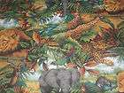 Safari Jungle Zoo Animals Baby Nursery Curtain Valance