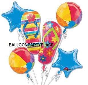 PARTY LUAU BABY SHOWER flip flop beach ball balloon BOUQUET DECORATION