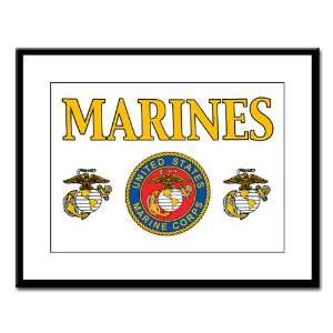 Large Framed Print Marines United States Marine Corps Seal