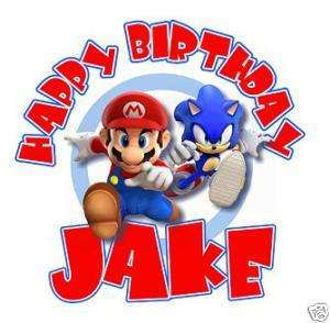 SUPER MARIO AND SONIC Personalized Birthday T Shirt