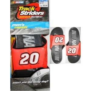 Tony Stewart #20 Nascar Mens Track Siders Flip Flops (Medium Size 8.5