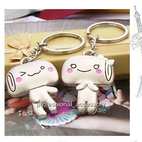 SW502 Sweet Heart Lover Pair Bread Cake Food Couple Keychain