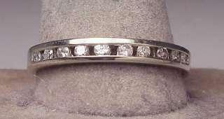 Large 14K White Gold Diamond Band Ring