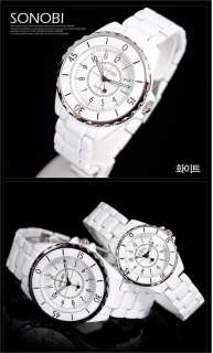 New Fashion Japan White Ladies Mens Luxury Quartz Sinobi Wrist Watch
