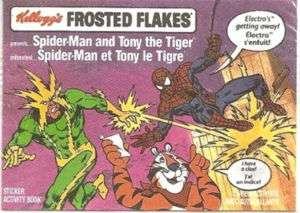SPIDERMAN & TONY THE TIGER KELLOGGS GIVEAWAY PROMO MINI