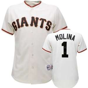 Bengie Molina Majestic MLB Home Ivory Replica San Francisco Giants