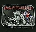 Famous IRON MAIDEN Killers Heavy Metal Band Evil Skeleton Belt Buckle