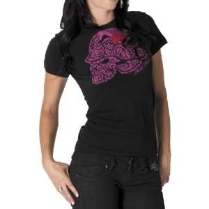 MSR Metal Mulisha Ladies Floral Cult T Shirt, Black, Size