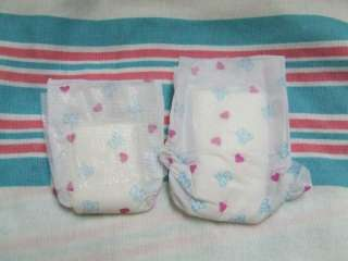 Ultra Micro Preemie NICU Diaper for Reborn, OOAK Baby, Teddy Bear