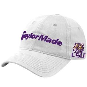TaylorMade LSU Tigers White NCAA Golf Adjustable Hat