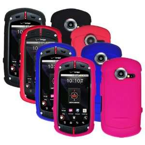 Combo Colorful (Black, Red, Hot Pink, Blue) Rubberized Protector Skin