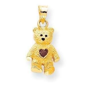 14k June Birthstone Bear Charm Jewelry