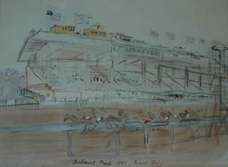 Vintage Lithograph Raoul Dufy Belmont Park 1951 Racing