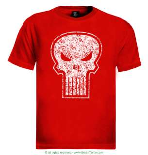 Punisher T Shirt cool skull scary movie retro prop