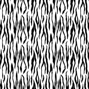 TIGER STRIPE WHITE & BLACK PATTERN Vinyl Decal Sheets 12