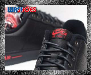 2011 Nike LeBron James Air Force 1 Low Black Sport Red US 8.5~11 nsw 1