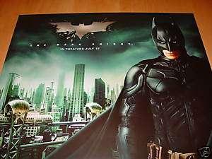 Batman Movie Poster THE DARK KNIGHT Heath Ledger Bale