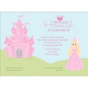 Princess Castle   Blonde Hair Invitations Health