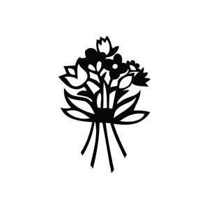Flower Bloom   Plant Decal Vinyl Car Wall Laptop Cellphone