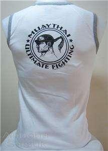 Muay Thai T Shirt KNEE Boxing WG Mens Tank Tops Fit M