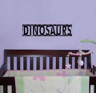 Vinyl Wall Art Decal Dinosaurs Sticker Text Words