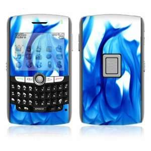Blue Flame Decorative Skin Cover Decal Sticker for BlackBerry World