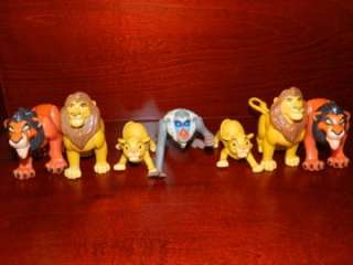 Lion King Simba Scar Rafiki Monkey Figure LOT Disney McDonalds Burger