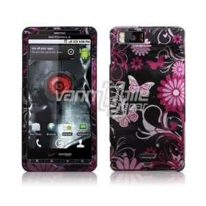 Motorola Droid X2   Black/Pink Butterfly Design Hard 2 Pc