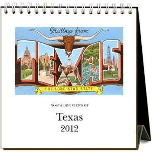 Nostalgic Views of Texas 2012 Easel Desk Calendar: Office