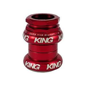 GripNut Headset 1 Inch BMX Red (Bright Silver Logo): Sports & Outdoors