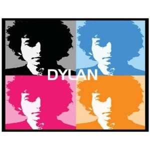 Postcard BOB DYLAN (Andy Warhol Art Impression