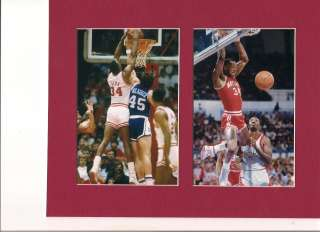 LEN BIAS MARYLAND TERPS MATTED ACC GAME PHOTOS VS.