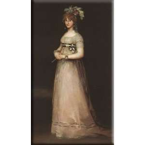 Countess of Chinchon 17x30 Streched Canvas Art by Goya, Francisco de