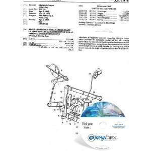 VARIABLE RATE OF FLOW FOR A FUEL INJECTION PUMP FOR
