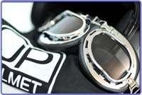 JP Jet noir helmet casque casco de moto harley f06