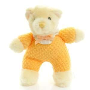 Teddy Yellow and Cream plush baby squeaky toy soft plush 6